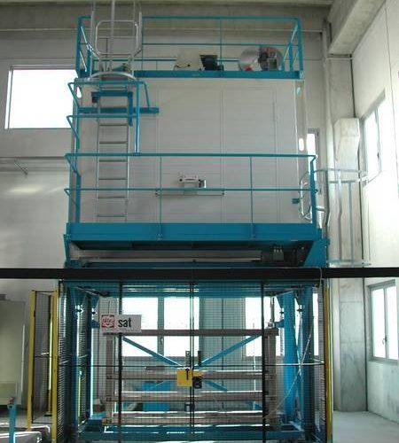 Furnace heat treatment aeronautics structural parts