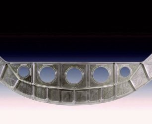 Industrial furnace heat treatment aerospace parts