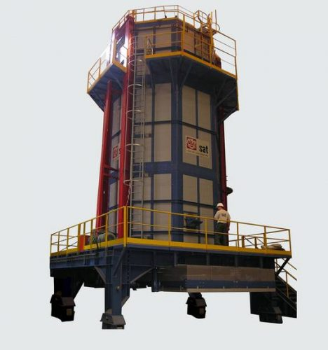 Tunnel furnace for heat treatment of forged aeronautics parts